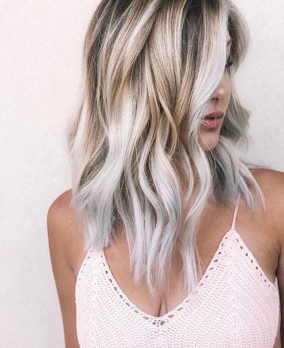 Medium To Long Hairstyles In Exciting Blond Colors – Best For Recent Medium Silver Layers Hairstyles (View 14 of 20)
