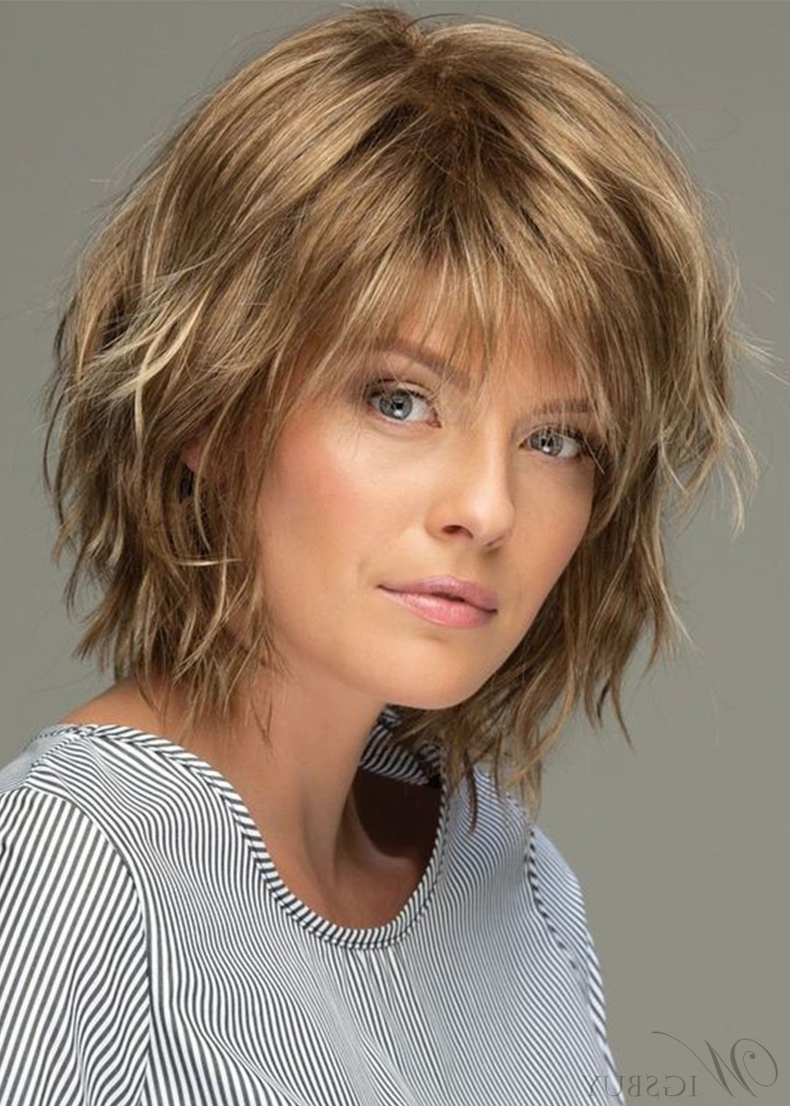 Messy Look Women's Shoulder Length Style Features Choppy Pertaining To Well Known Medium Length Choppy Layers Hairstyles (View 13 of 20)