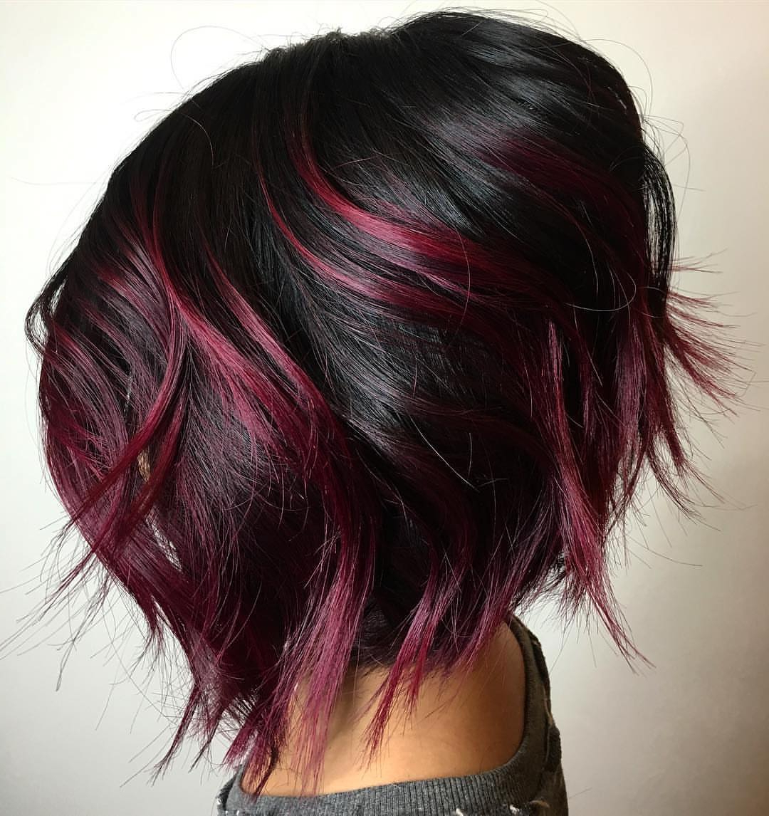 Modern Short Shaggy Bob Hairstyles To Take Over Salons For Short Shag Haircuts With Purple Highlights (View 18 of 20)