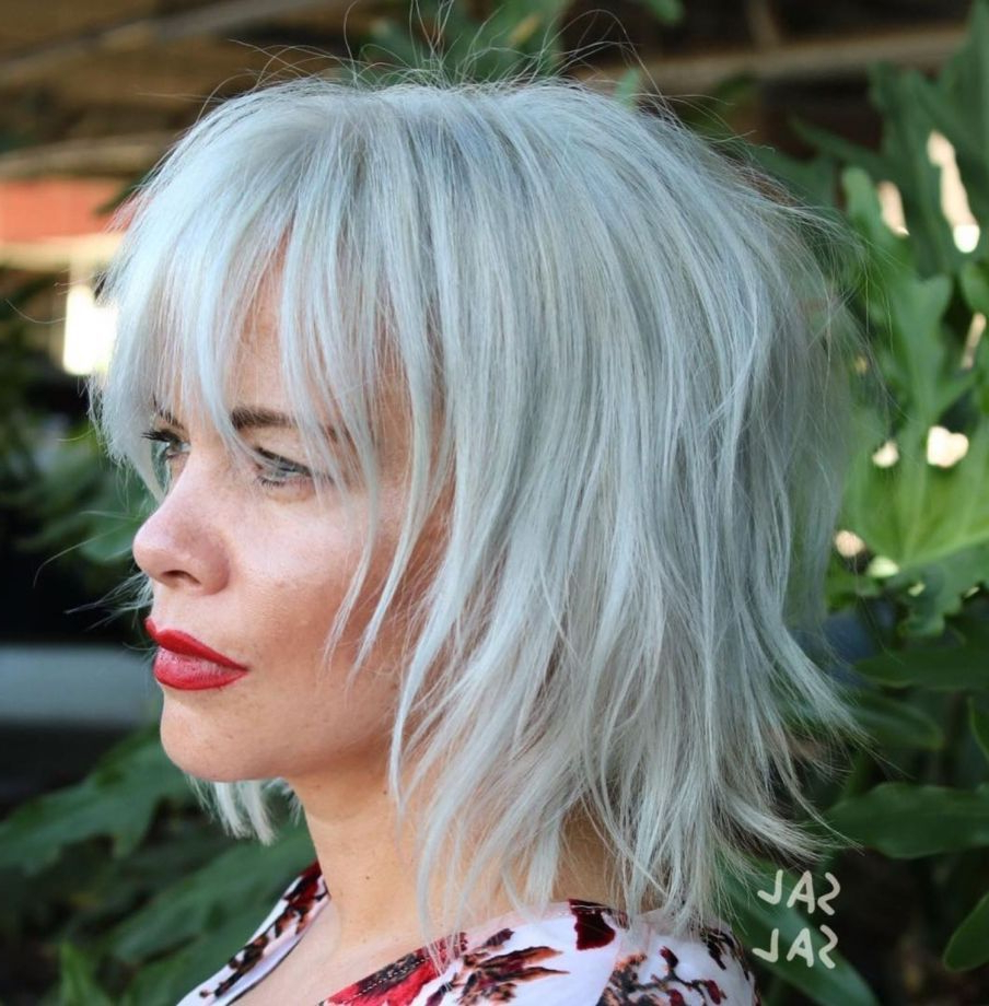 Most Current Feathered Black Shag Haircuts With Side Bangs With Regard To Pin On Self Improvement (View 12 of 20)