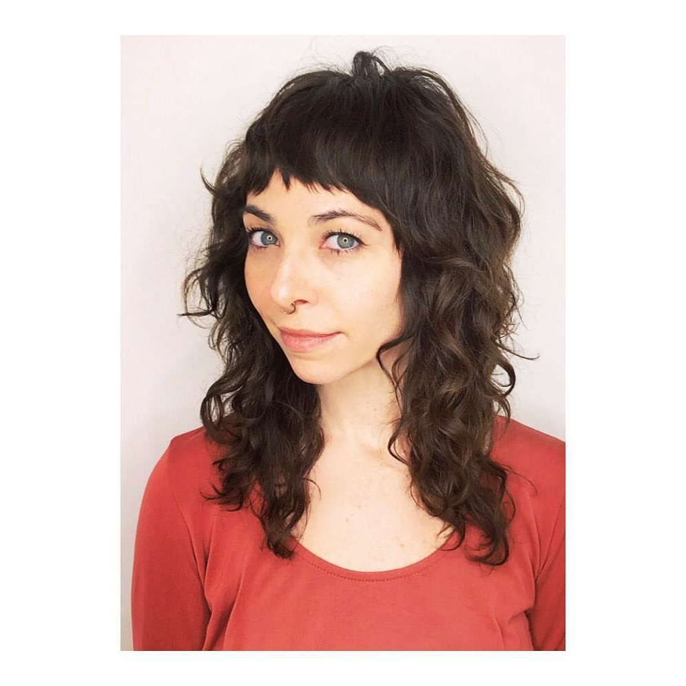 Most Current Long Curly Shag Hairstyles With Bangs Regarding Curly Shag With Baby Bangs (View 5 of 20)