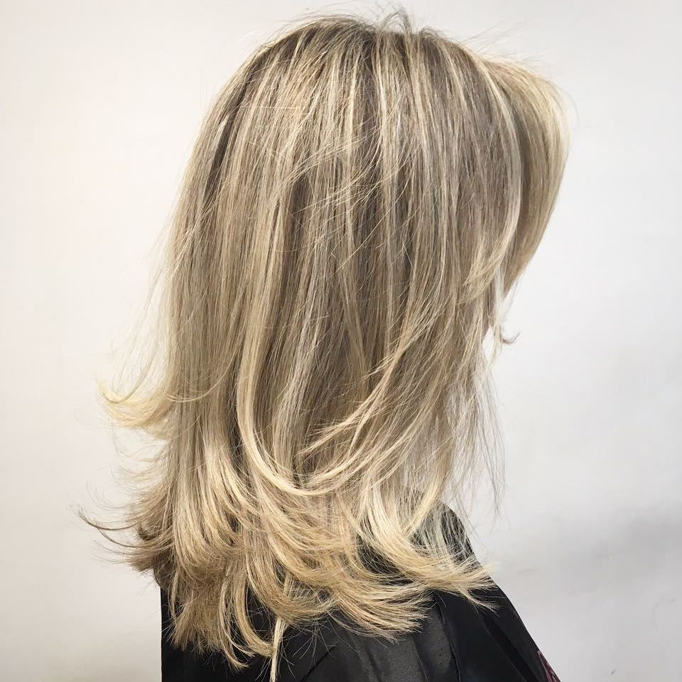 Most Current Thick Feathered Blonde Lob Hairstyles Pertaining To 50 Fabulous Medium Length Layered Hairstyles – Hair Adviser (View 14 of 20)