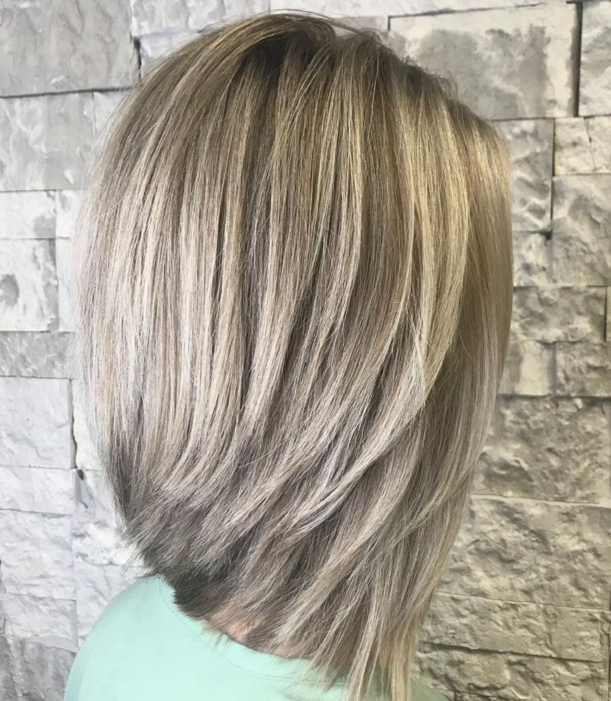 Most Current Voluminous Layered Bronde Lob Hairstyles Intended For 70 Best A Line Bob Hairstyles Screaming With Class And Style (View 4 of 20)