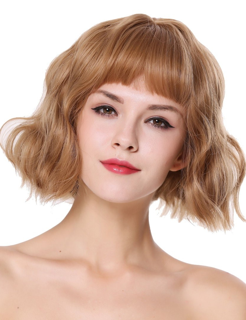 Most Favored Short Bob With Bangs 2019 That You Can't Miss Inside Romantic Blonde Wavy Bob Hairstyles (View 11 of 20)