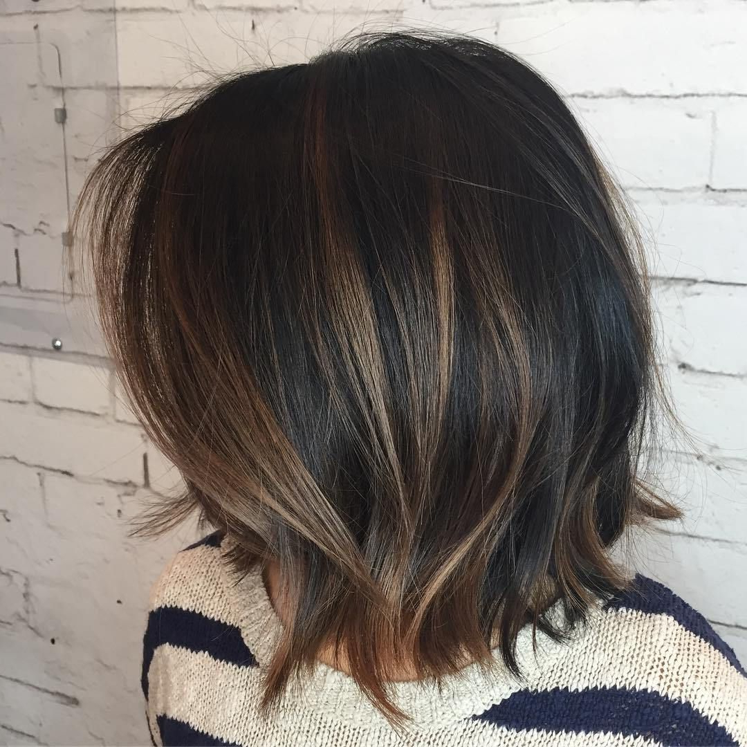 Most Popular Black And Brown Choppy Bob Hairstyles In 60 Chocolate Brown Hair Color Ideas For Brunettes In (View 3 of 20)