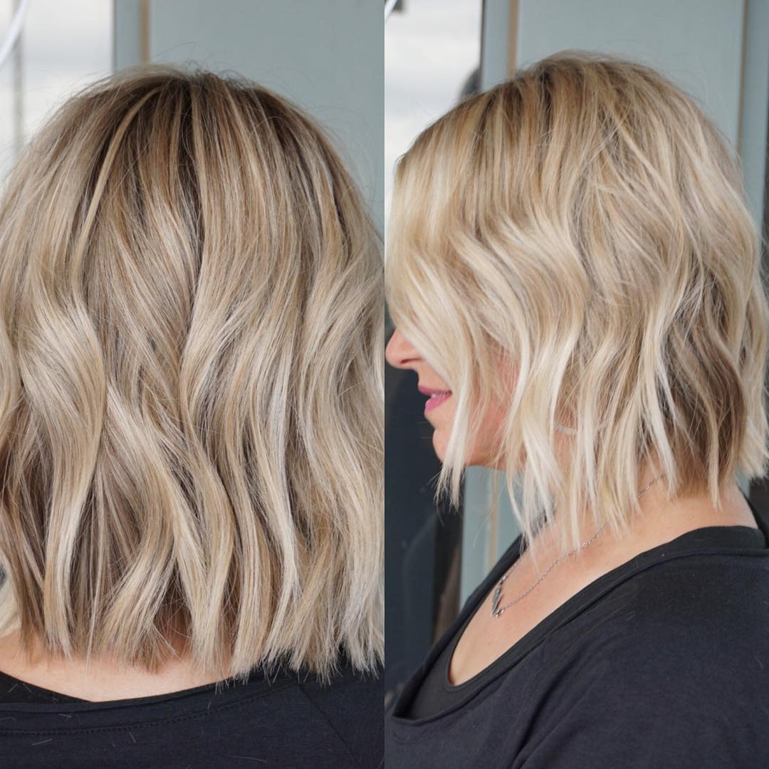 Most Popular Blonde Medium Haircuts Inside 10 Wavy Haircuts For Medium Length Hair – Color Me Gorgeous (View 15 of 20)
