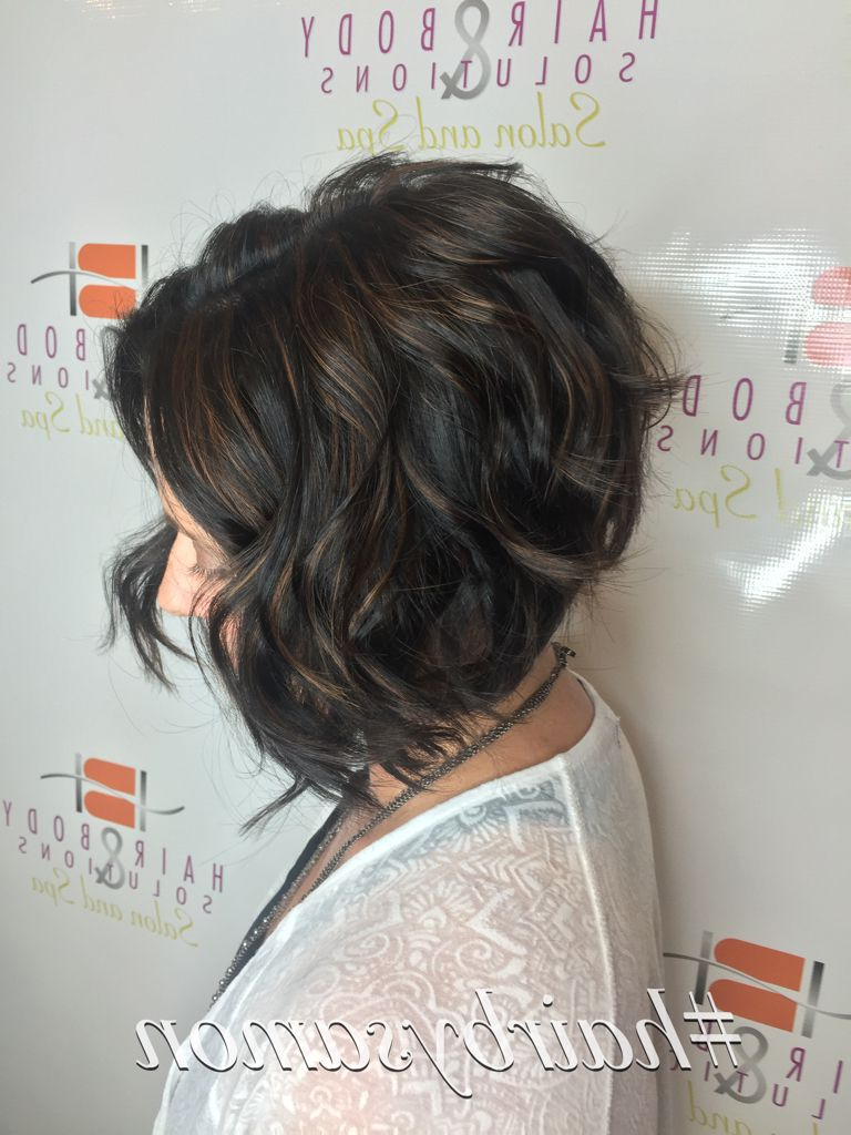 Most Popular Carefree Shaggy Waves Haircuts Intended For Inverted Bob With Beach Waves In (View 9 of 20)