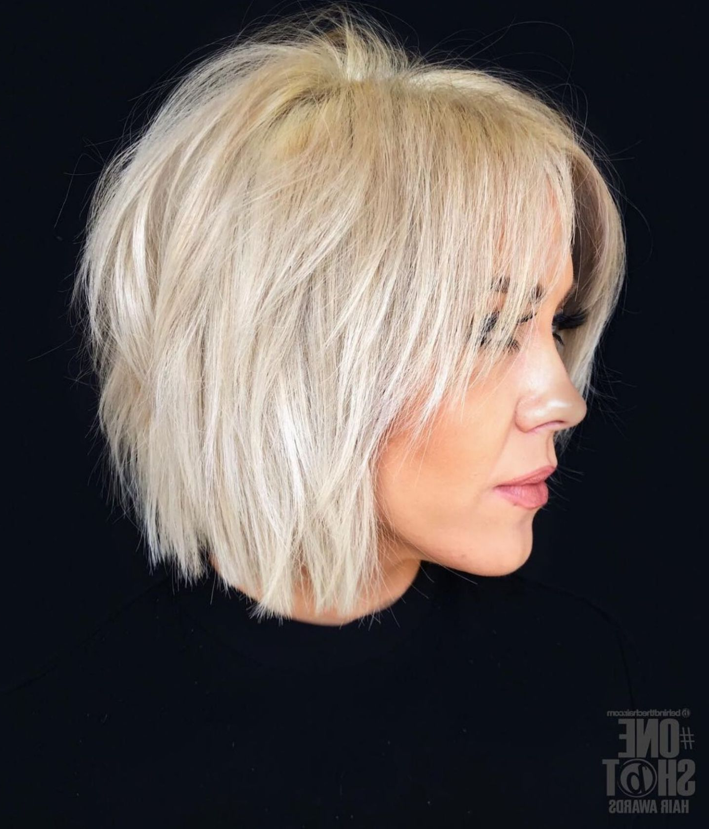 Most Popular Choppy Bright Blonde Bob Hairstyles With Regard To 60 Most Universal Modern Shag Haircut Solutions In (View 2 of 20)