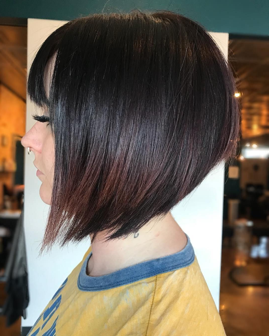 Most Recent Brunette Razor Haircuts With Bangs With Regard To Pin On Hairstyles To Try (View 2 of 20)