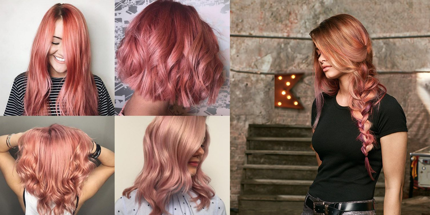 Most Recent Jagged Red Ombre Hairstyles Within How To Rock Rose Gold Hair Color This Summer (View 9 of 20)