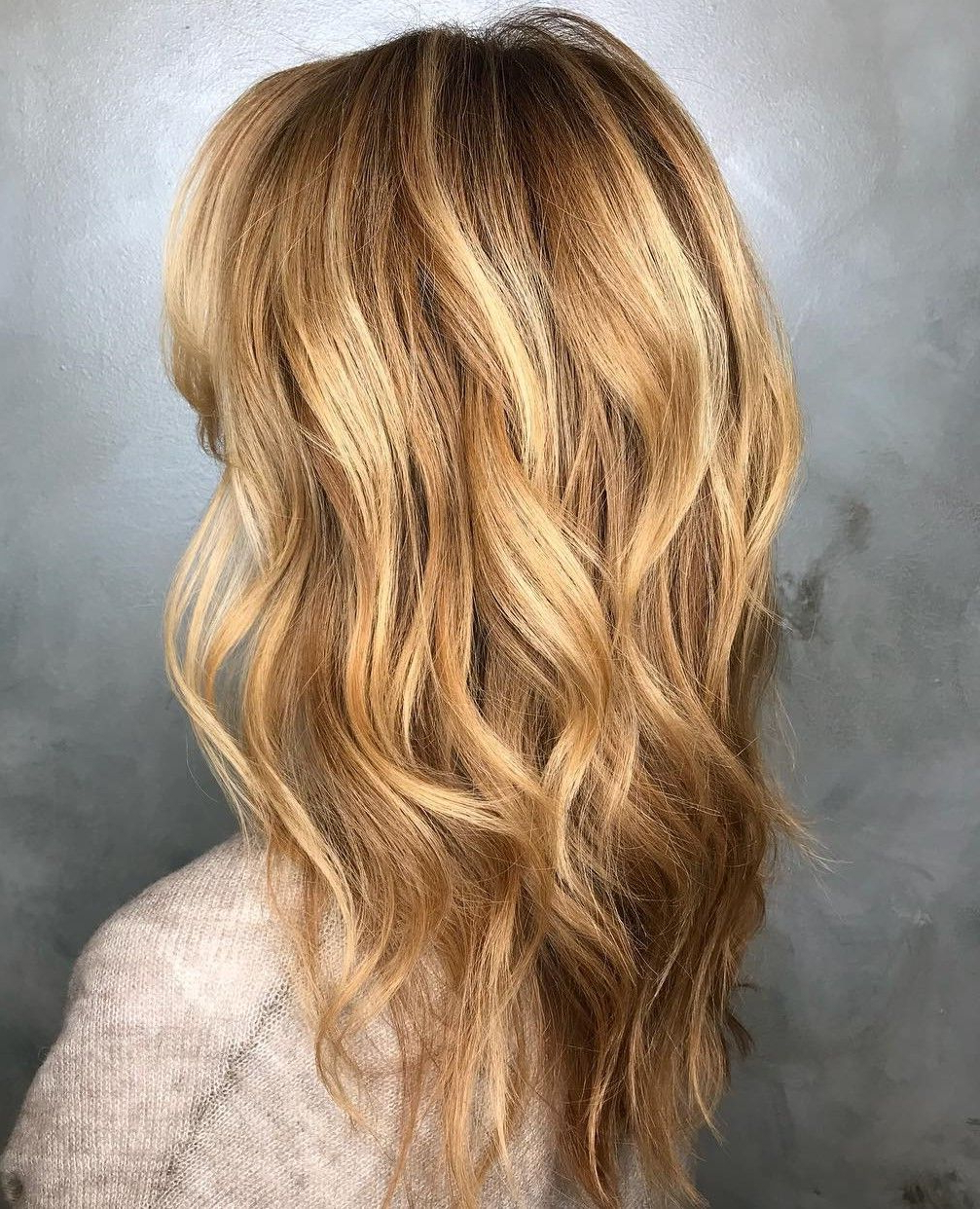Most Recently Released Longer Tousled Caramel Blonde Shag Haircuts For Pin On Hair Ideas (View 13 of 20)