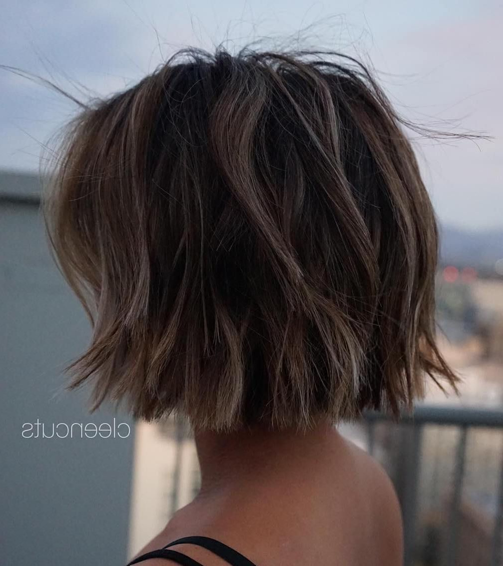 Most Recently Released Medium Blunt Haircuts With Added Choppy Layers In 70 Fabulous Choppy Bob Hairstyles In (View 12 of 20)