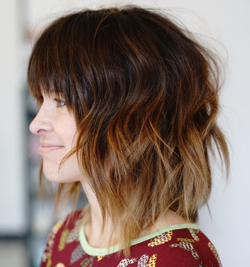 Most Recently Released Medium Messy Shag Haircuts With Arched Bangs Intended For Pin On Make Up (View 15 of 20)