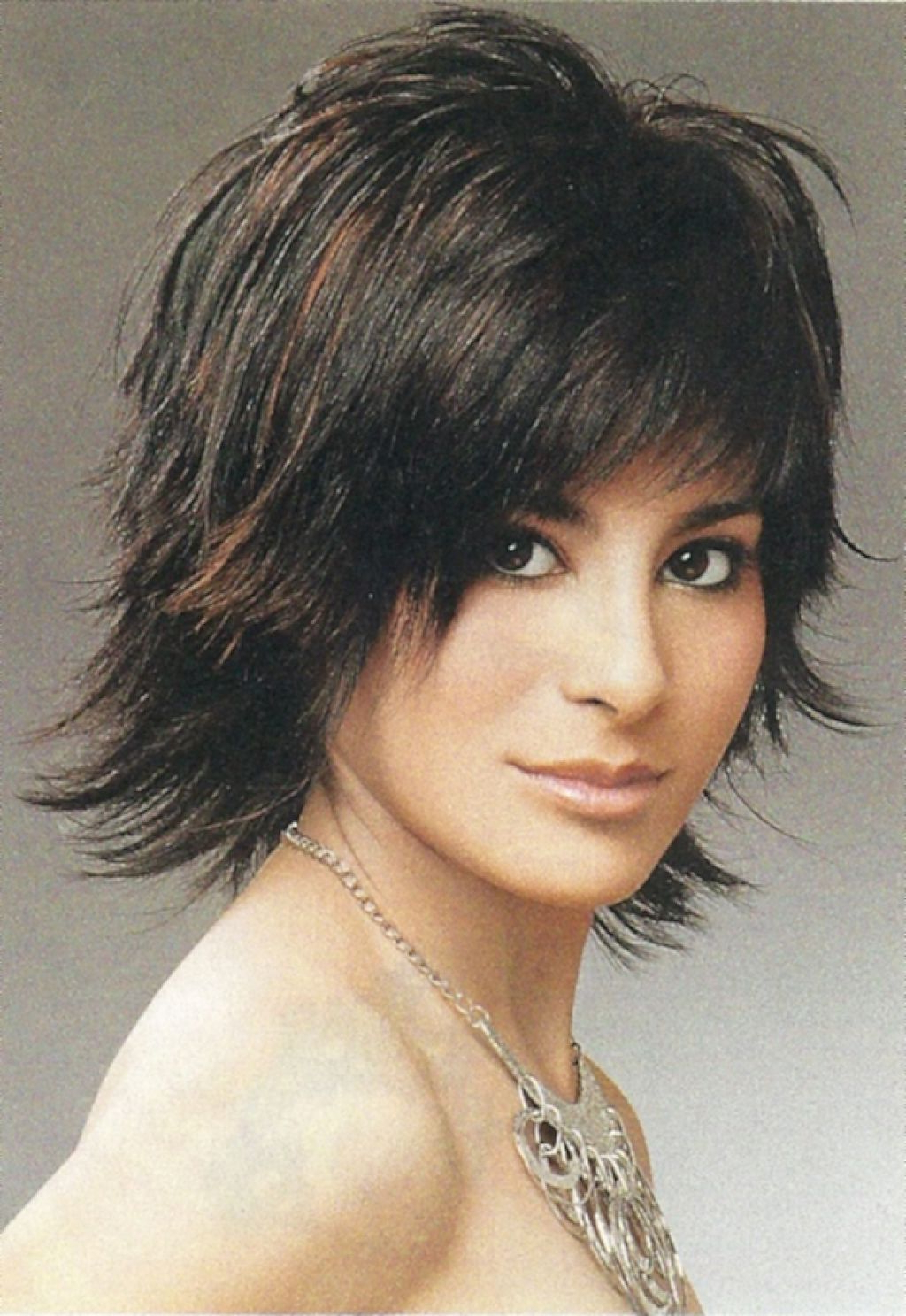 Most Recently Released Medium Tousled Haircuts With Bangs In Messy Shaggy Hairstyles For Women (View 13 of 20)