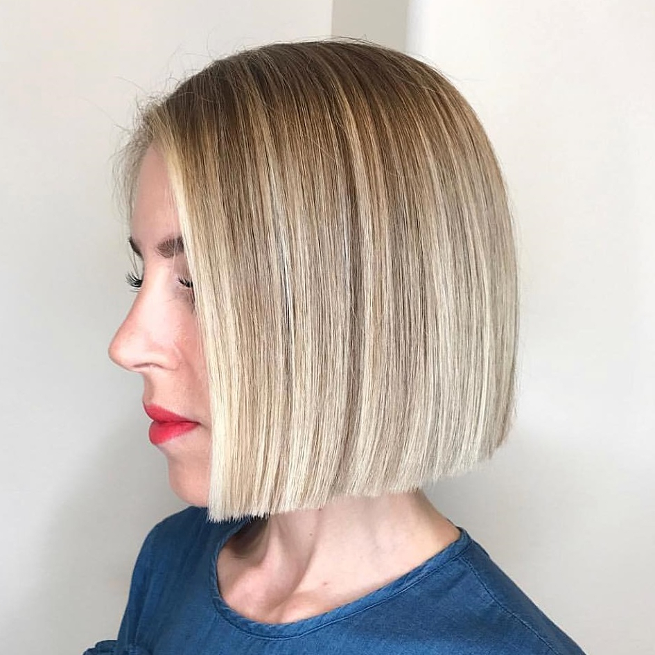 Most Recently Released Textured Bronde Bob Hairstyles With Silver Balayage Inside 45 Short Hairstyles For Fine Hair To Rock In (View 18 of 20)