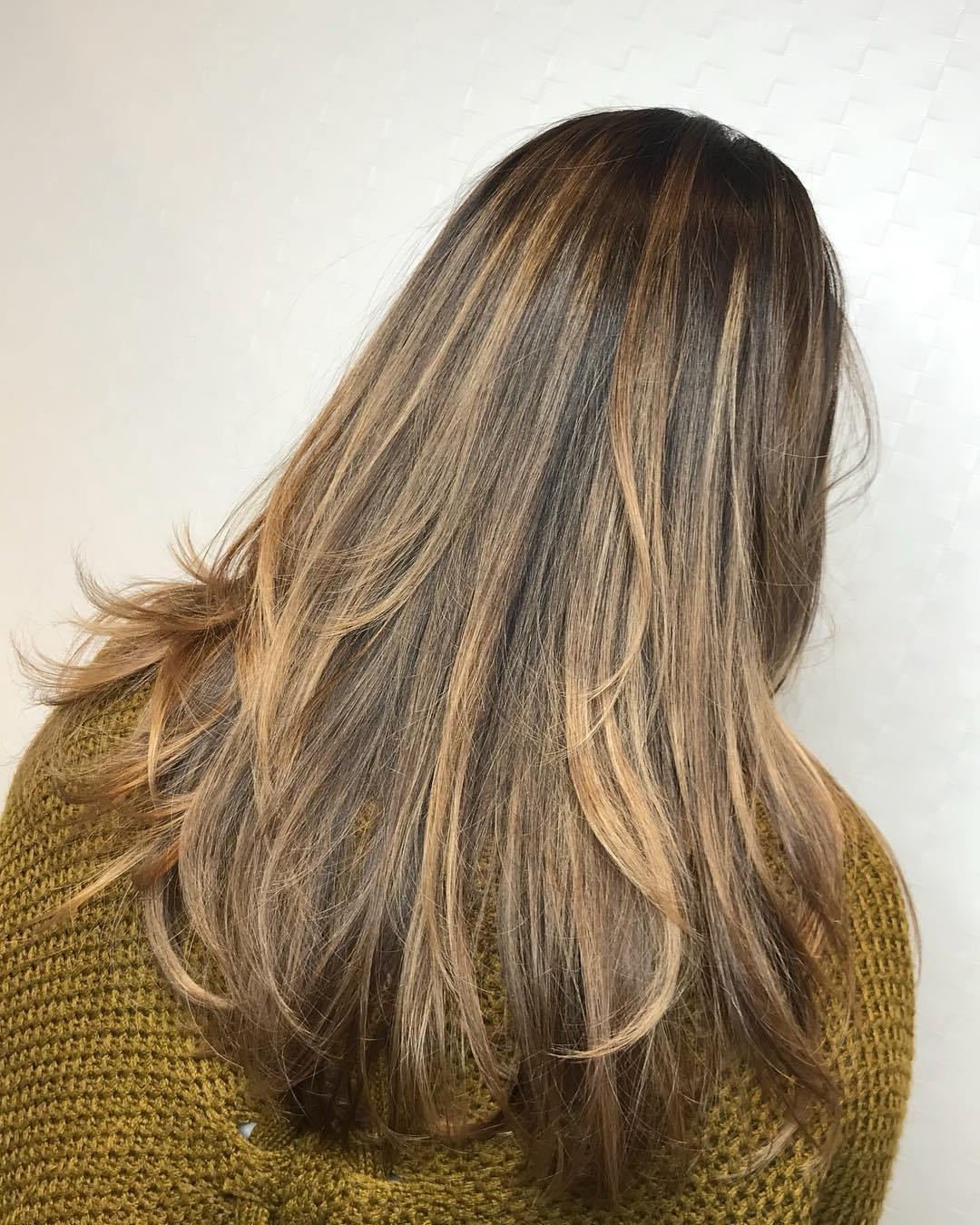 Most Recently Released Warm Brown Hairstyles With Feathered Layers Throughout 50 Luscious Hairstyles For Long Thin Hair – Hair Adviser (View 13 of 20)