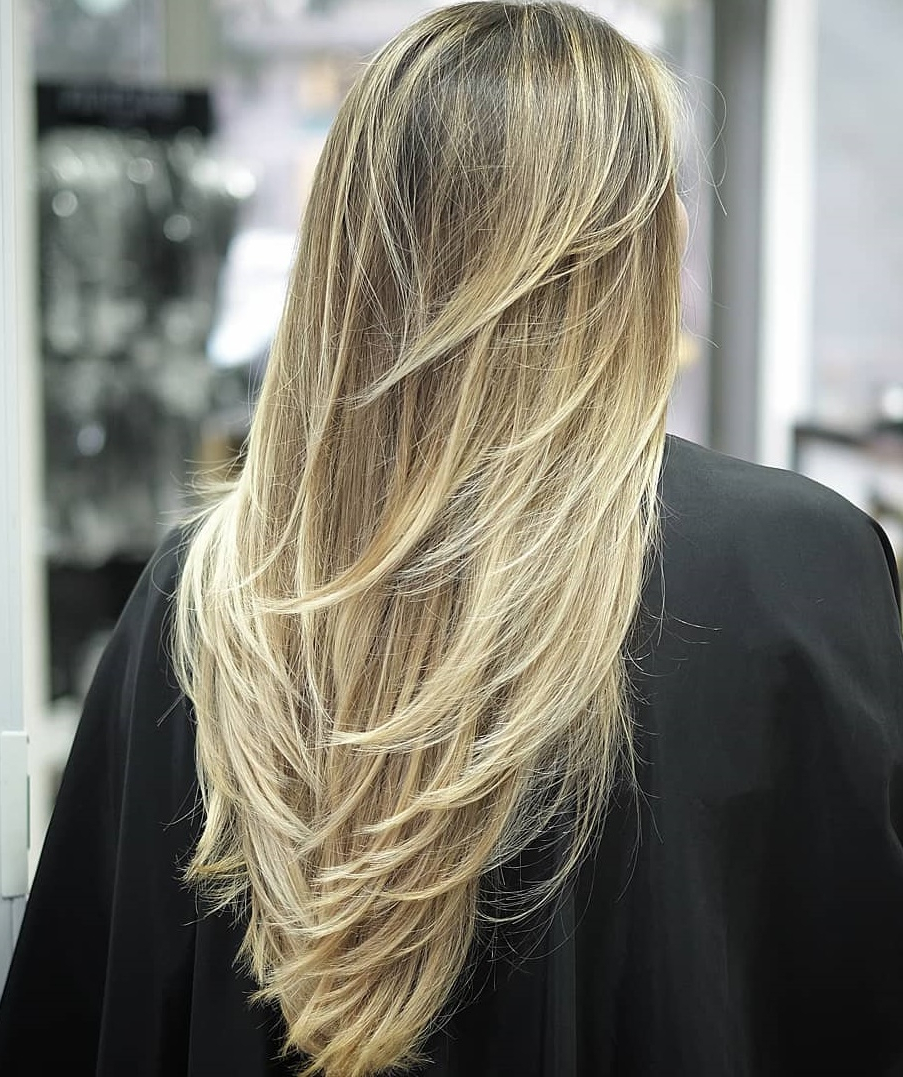 Most Up To Date Natural Layers And Ombre Highlights Long Shag Hairstyles Throughout How To Nail Layered Hair In 2019: Full Guide To Lengths And (View 11 of 20)
