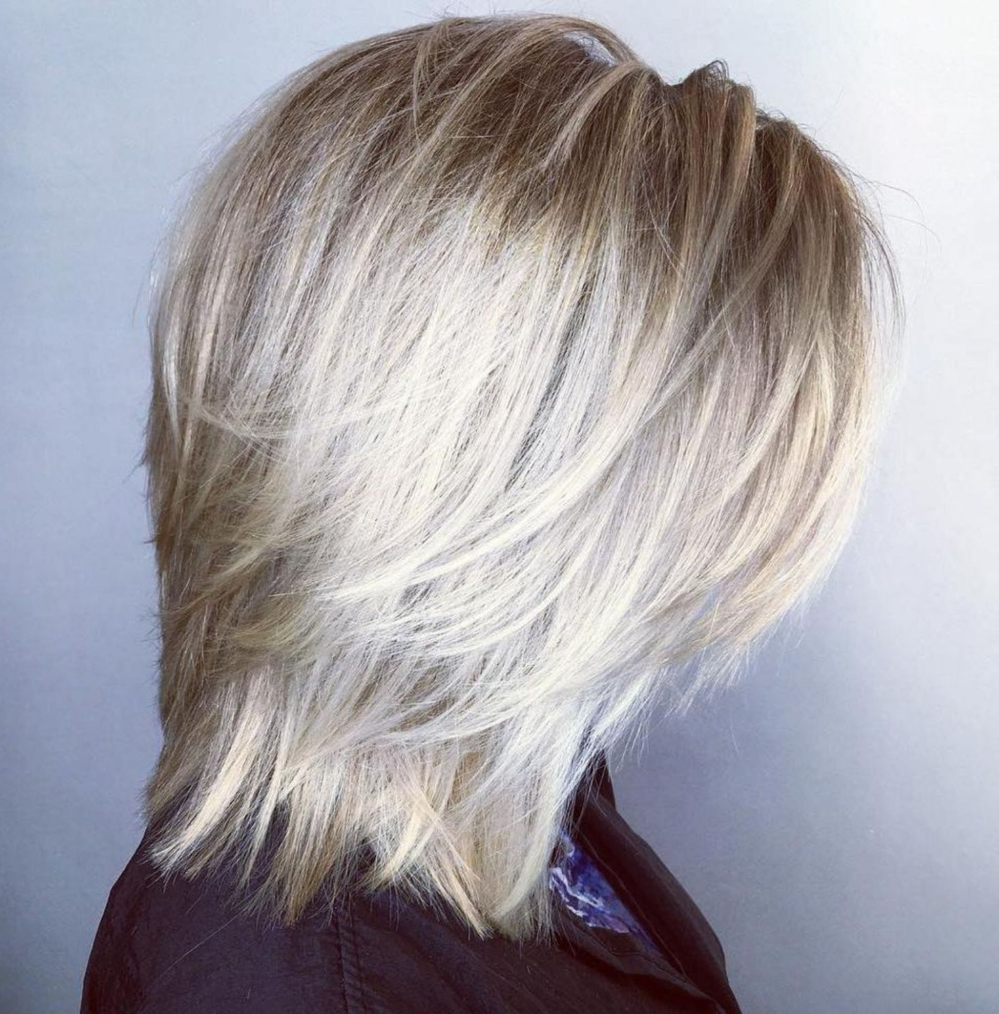 Featured Photo of Platinum Balayage Shag Haircuts