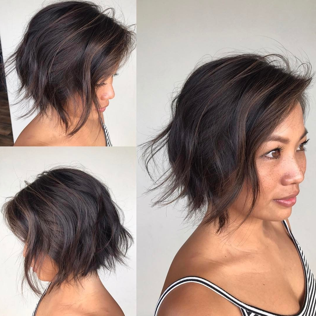 Most Up To Date Razored Shaggy Chocolate And Caramel Bob Hairstyles Inside 50 Most Flattering Hairstyles For Thick Hair – Hair Adviser (View 10 of 20)