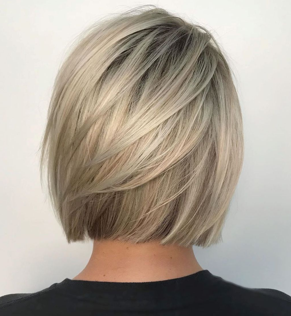Most Up To Date Sliced Platinum Blonde Bob Hairstyles With 30 Classy Hairstyles And Haircuts For Fine Hair To Do In (View 12 of 20)