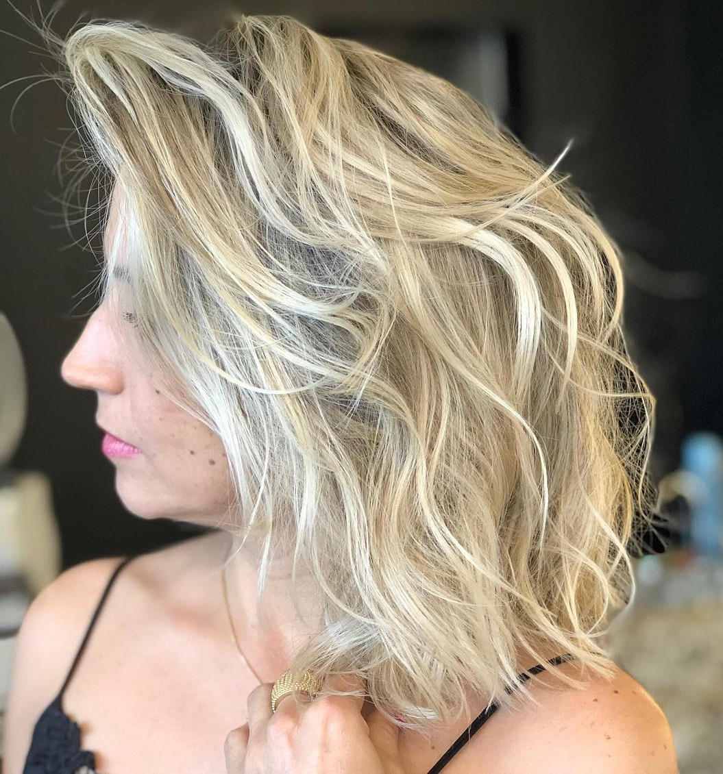 Must Try Medium Length Layered Haircuts For 2019 With Regard To Current Medium Haircuts With Flipped Ends For Thick Hair (View 16 of 20)