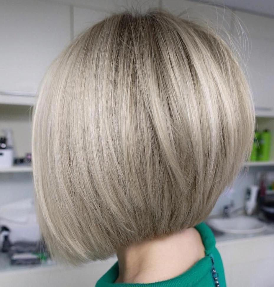 Neat And Sleek Ash Blonde Bob #bobhaircut | Hair In 2019 Regarding Choppy Ash Blonde Bob Hairstyles (View 19 of 20)