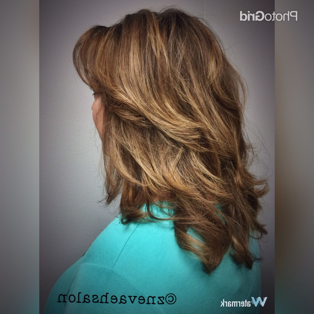 Newest Bronde Shaggy Hairstyles With Feathered Layers Throughout Beautiful Bronde Balayage Color & Shag Haircut @znevaehsalon (View 10 of 20)