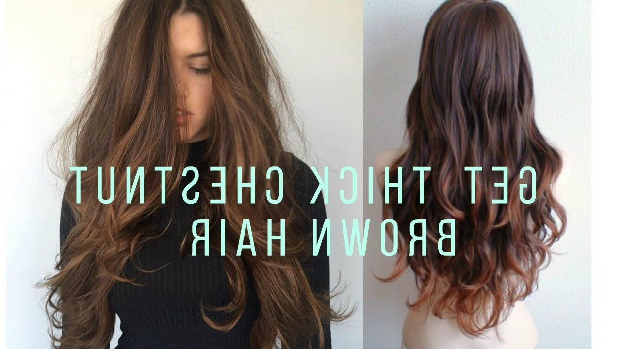 Newest Long Chestnut Brown Shag Hairstyles For Get Thick Long Chestnut Brown Hair Subliminal – Youtube (View 15 of 20)