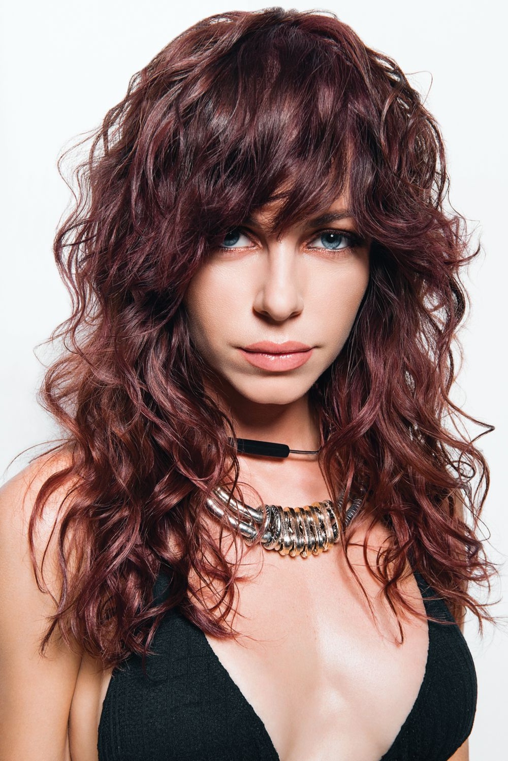 Newest Long Curly Shag Hairstyles With Bangs For Pin On Hair Inspiration (View 2 of 20)