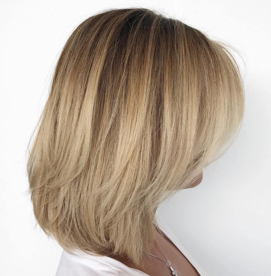 Newest Medium Haircuts With Subtle Balayage Within 50 Fabulous Medium Length Layered Hairstyles – Hair Adviser (View 17 of 20)