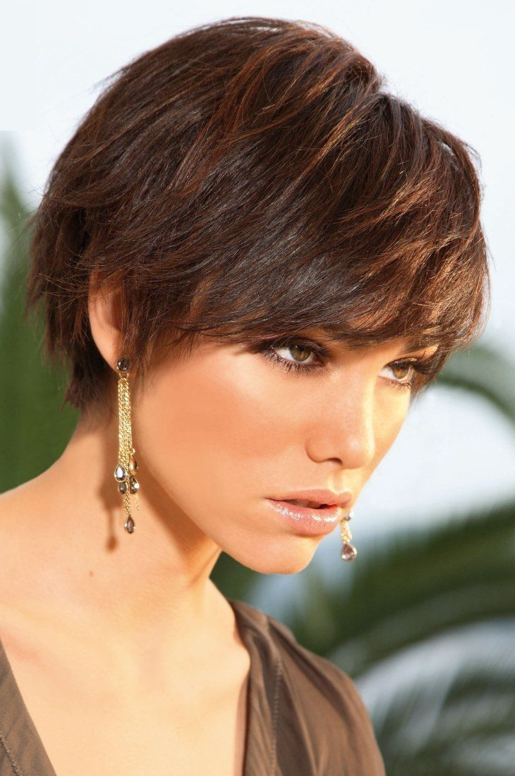 Newest Wispy Straight Finely Chopped Brunette Haircuts For 30 Amazing & Refreshing Super Short Haircuts For Women (View 13 of 20)