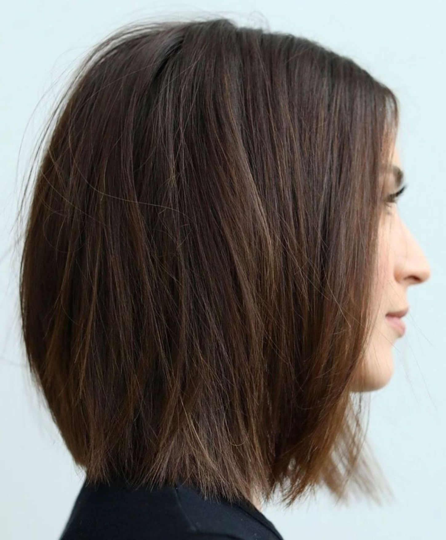 Newest Wispy Straight Finely Chopped Brunette Haircuts With 60 Fun And Flattering Medium Hairstyles For Women In (View 15 of 20)