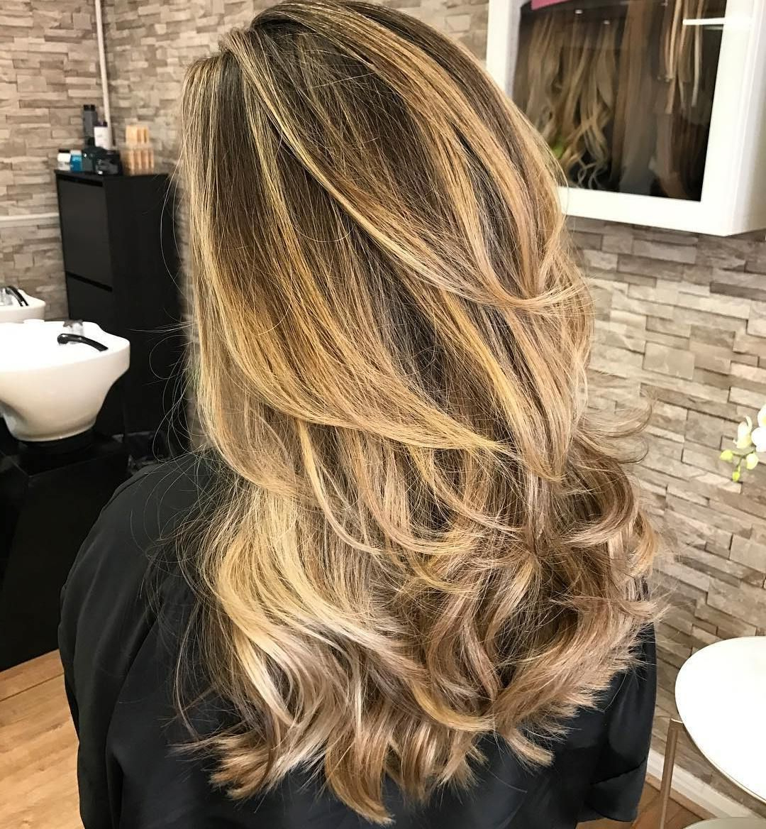 Pin On Beauty Regarding Best And Newest Lovely Golden Blonde Haircuts With Swoopy Layers (View 2 of 20)