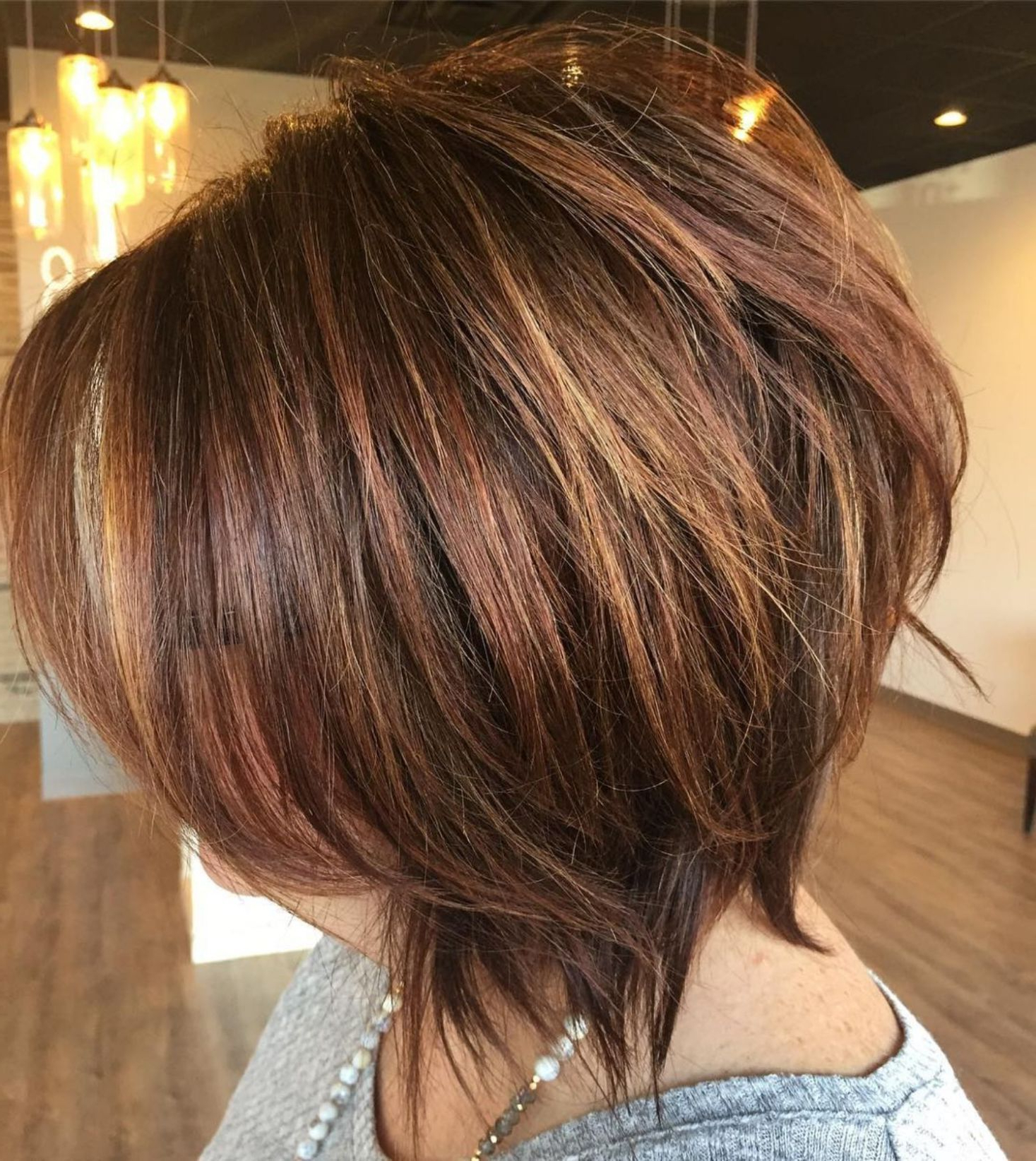 Pin On Beauty Regarding Current Razored Shaggy Chocolate And Caramel Bob Hairstyles (Gallery 7 of 20)
