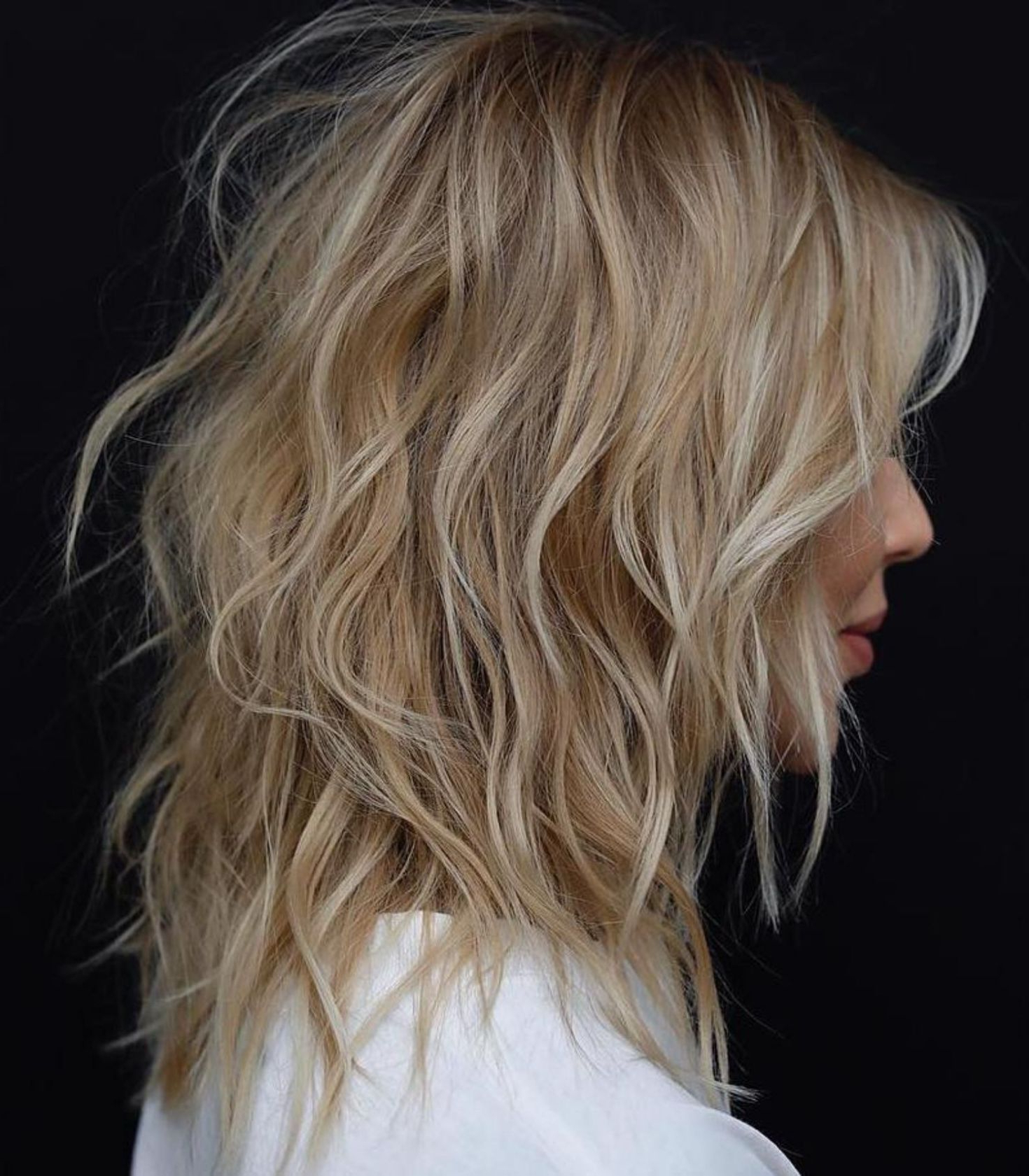 Pin On Cabello En Capas With Regard To Most Up To Date Collarbone Bronde Shag Haircuts (View 18 of 20)