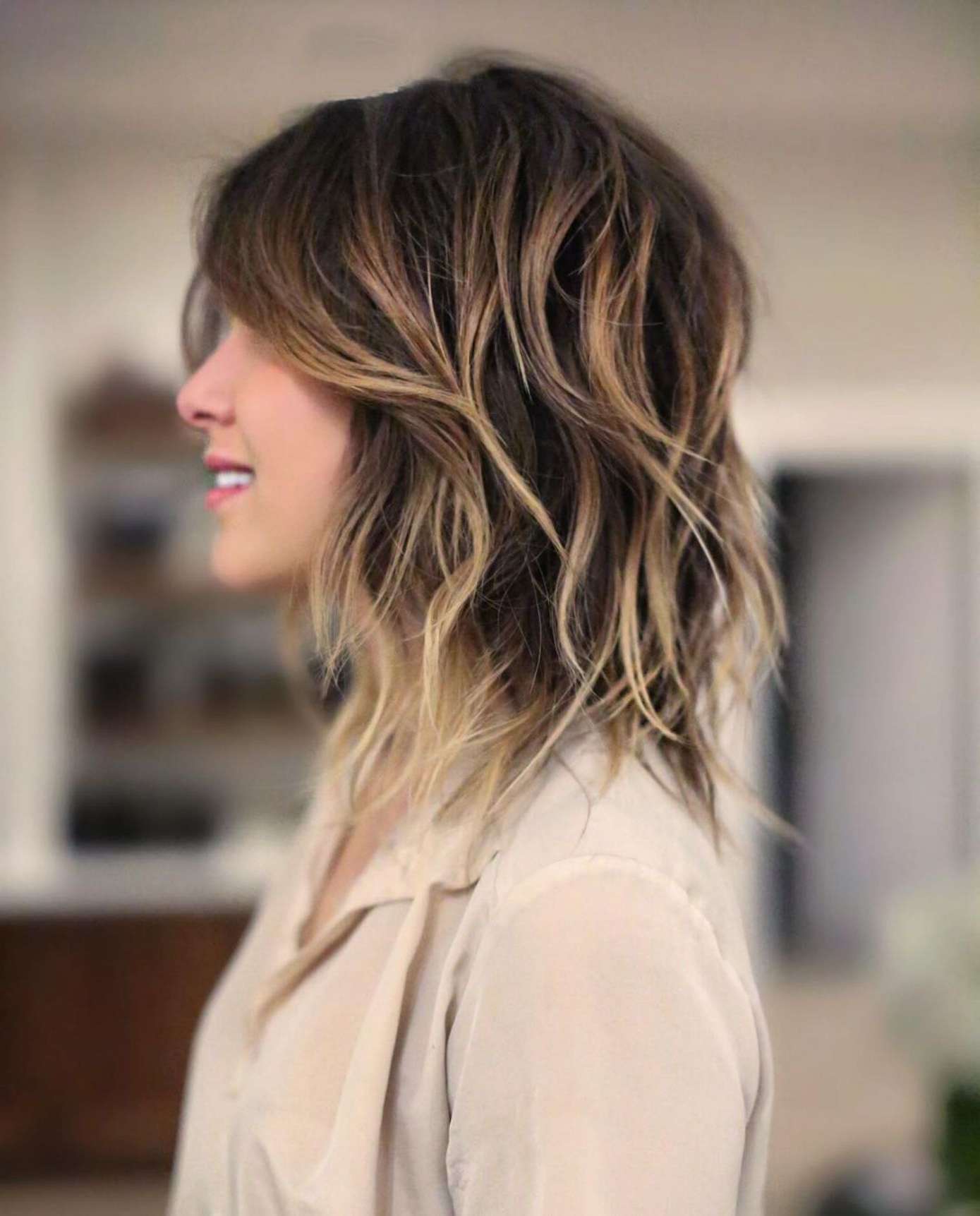 Featured Photo of Balayage Hairstyles For Shoulder Length Shag