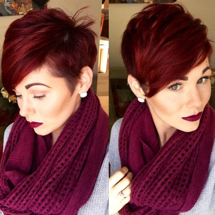 Featured Photo of Vibrant Burgundy Shag Haircuts