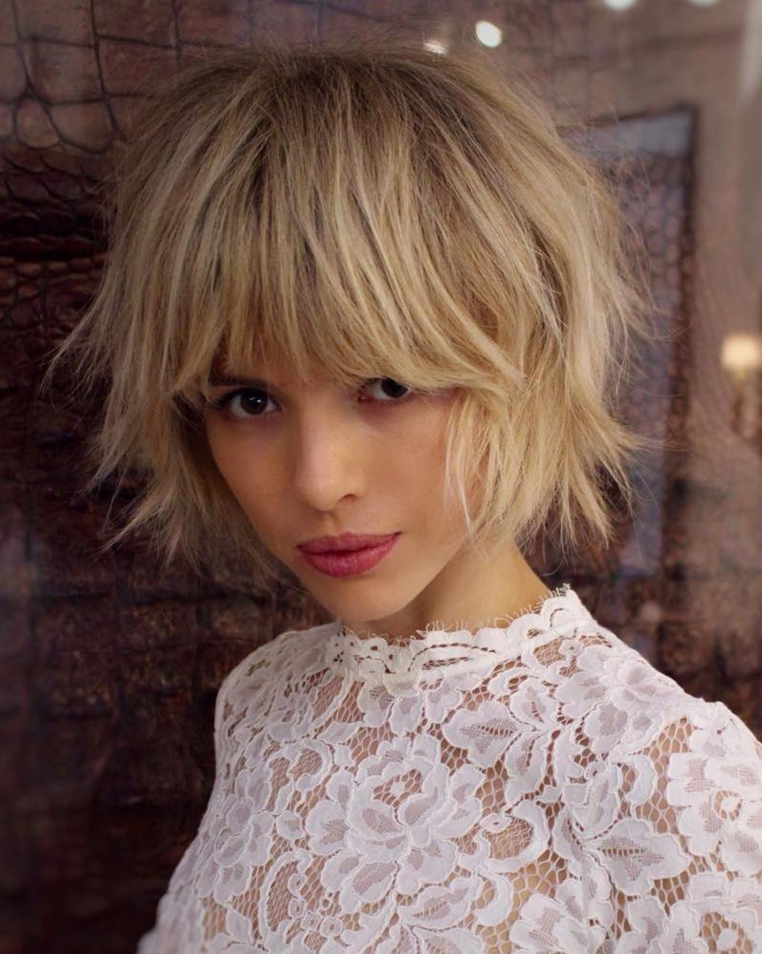 Pin On Haido`s & Hats For Short Chopped Bob Hairstyles With Straight Bangs (View 15 of 20)