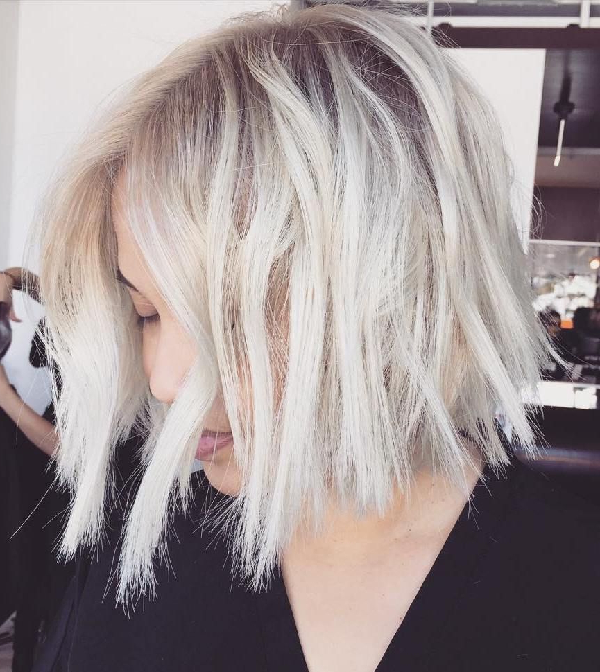 Featured Photo of Choppy Bright Blonde Bob Hairstyles