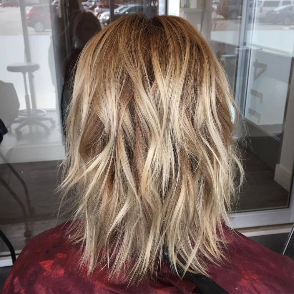 Pin On Hair & Beauty With Regard To Trendy Longer Tousled Caramel Blonde Shag Haircuts (Gallery 7 of 20)