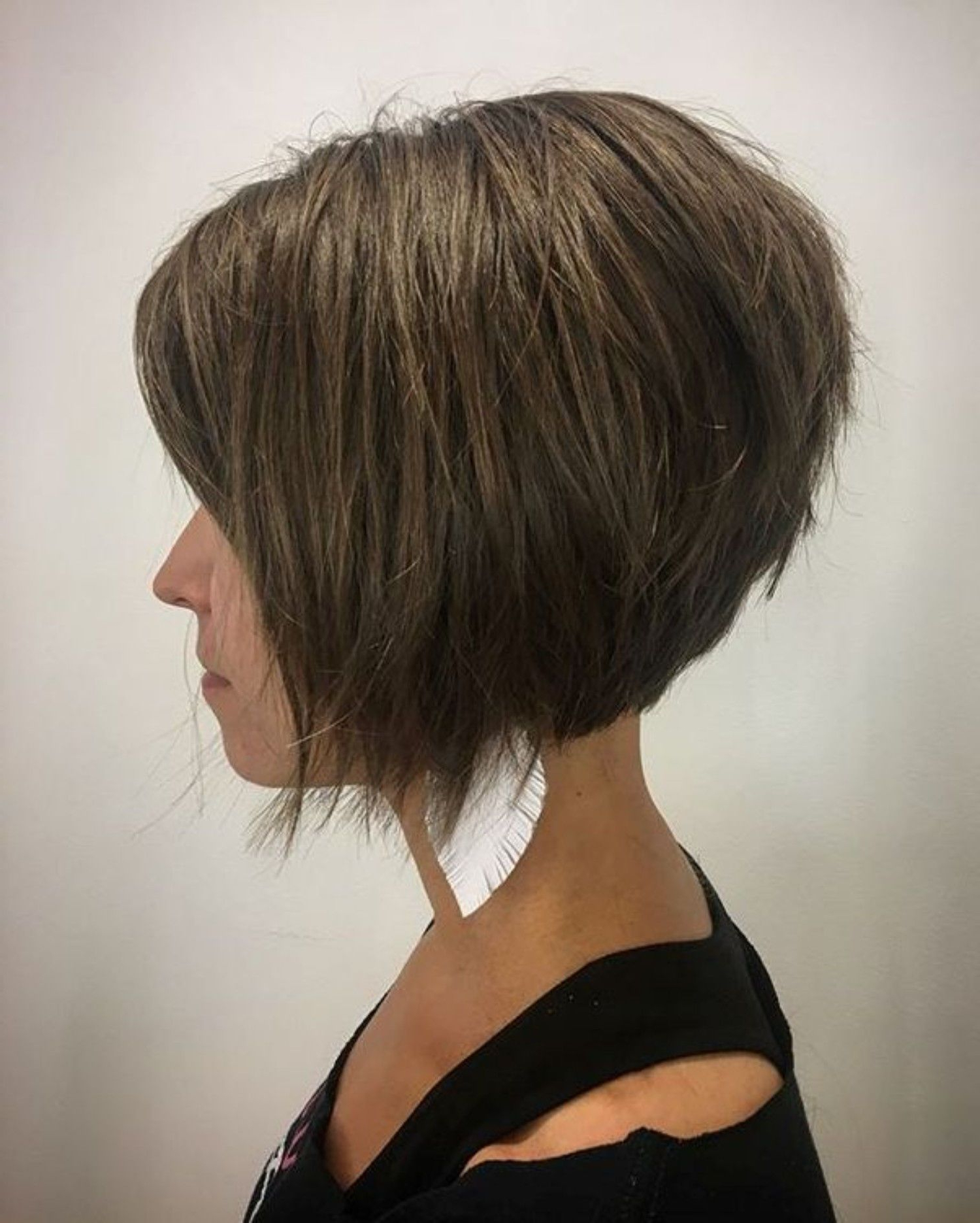 Pin On Hair Cut Ideas Inside Short Sliced Inverted Bob Hairstyles (View 4 of 20)
