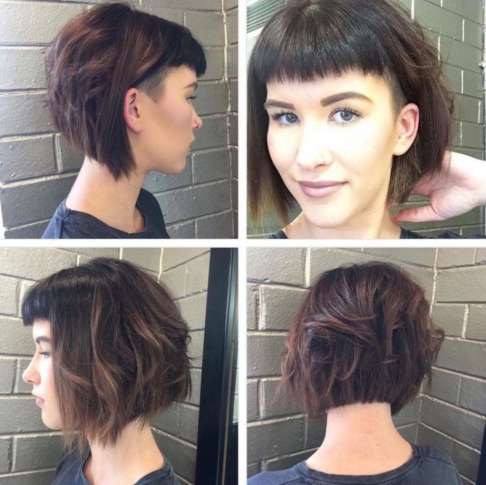 Pin On Hair For Curly Messy Bob Hairstyles With Side Bangs (Gallery 17 of 20)