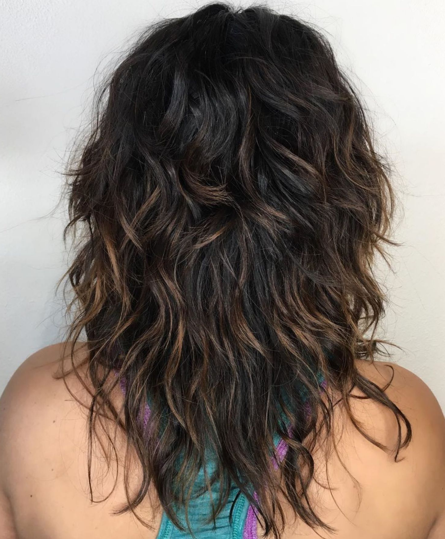 Pin On Hair For Preferred Brunette Wavy Razored Shag Haircuts (View 16 of 20)