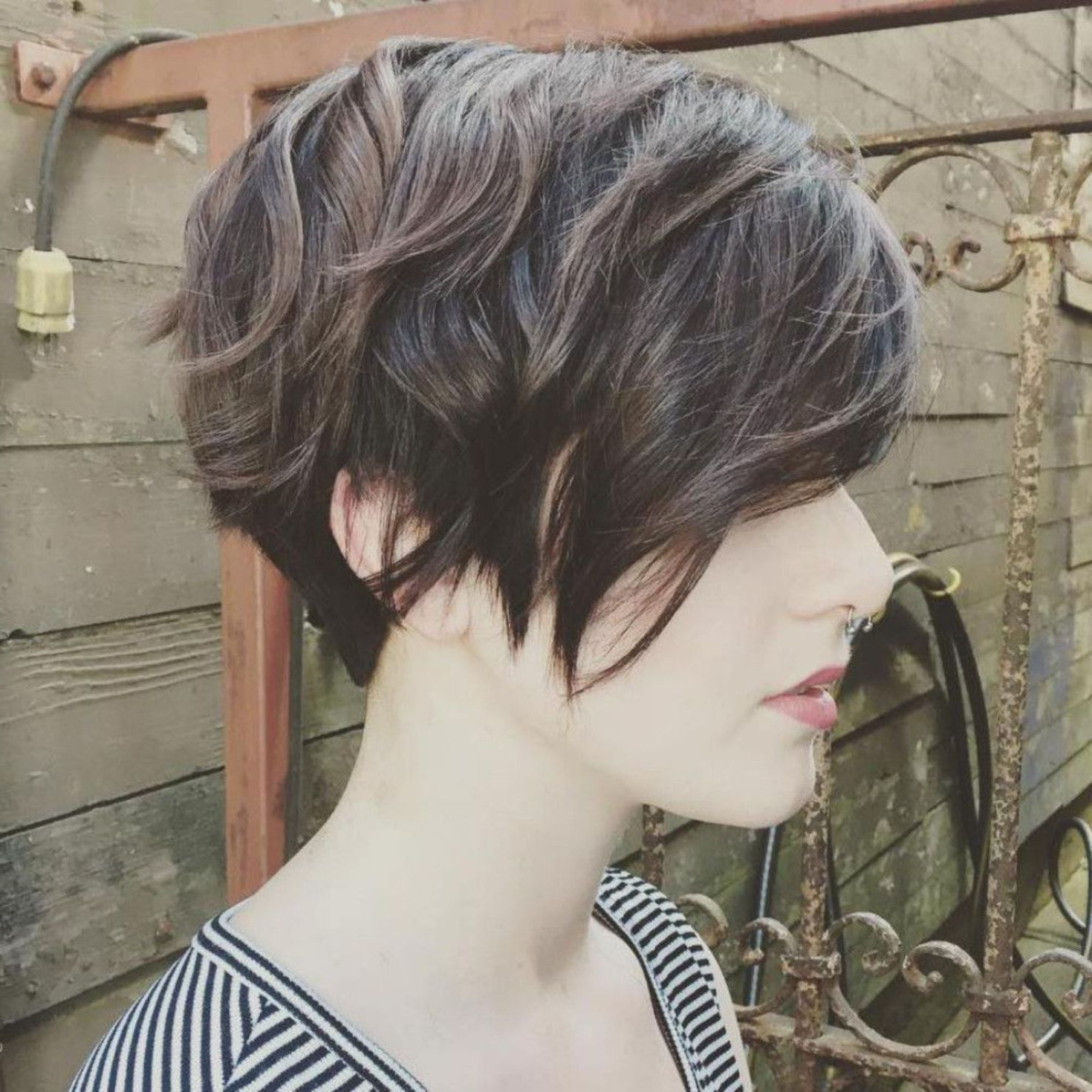 Pin On Hair Ideas 2017 2018 Within Long Pixie Haircuts With Angled Layers (View 4 of 20)