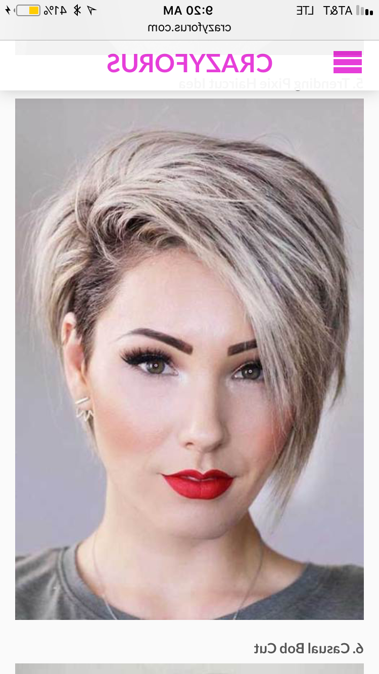 Pin On Hair Ideas Pertaining To Classic Asymmetrical Hairstyles For Round Face Types (View 3 of 20)