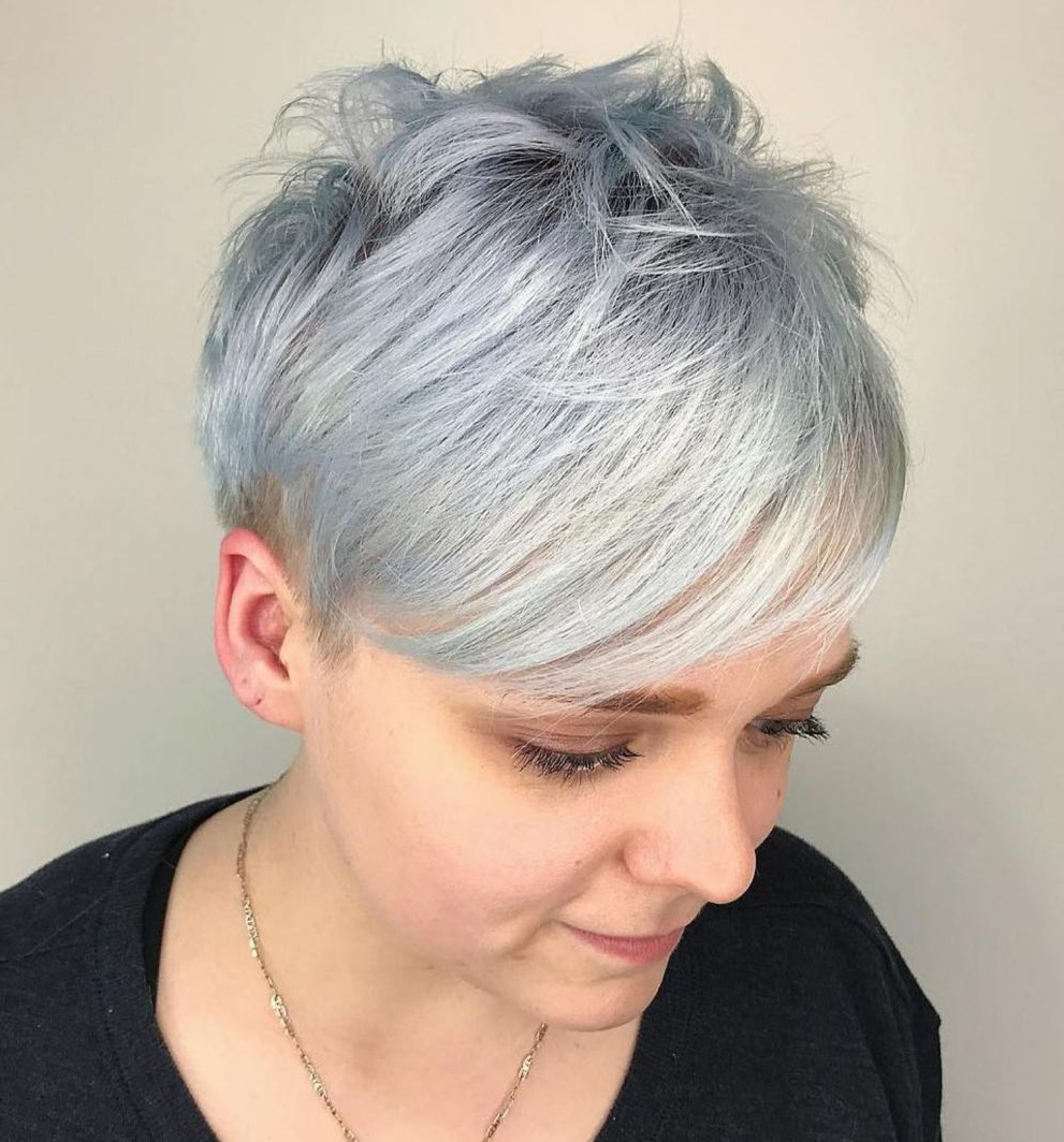 Pin On Hair Ideas Pertaining To Gray Pixie Haircuts With Messy Crown (View 3 of 20)