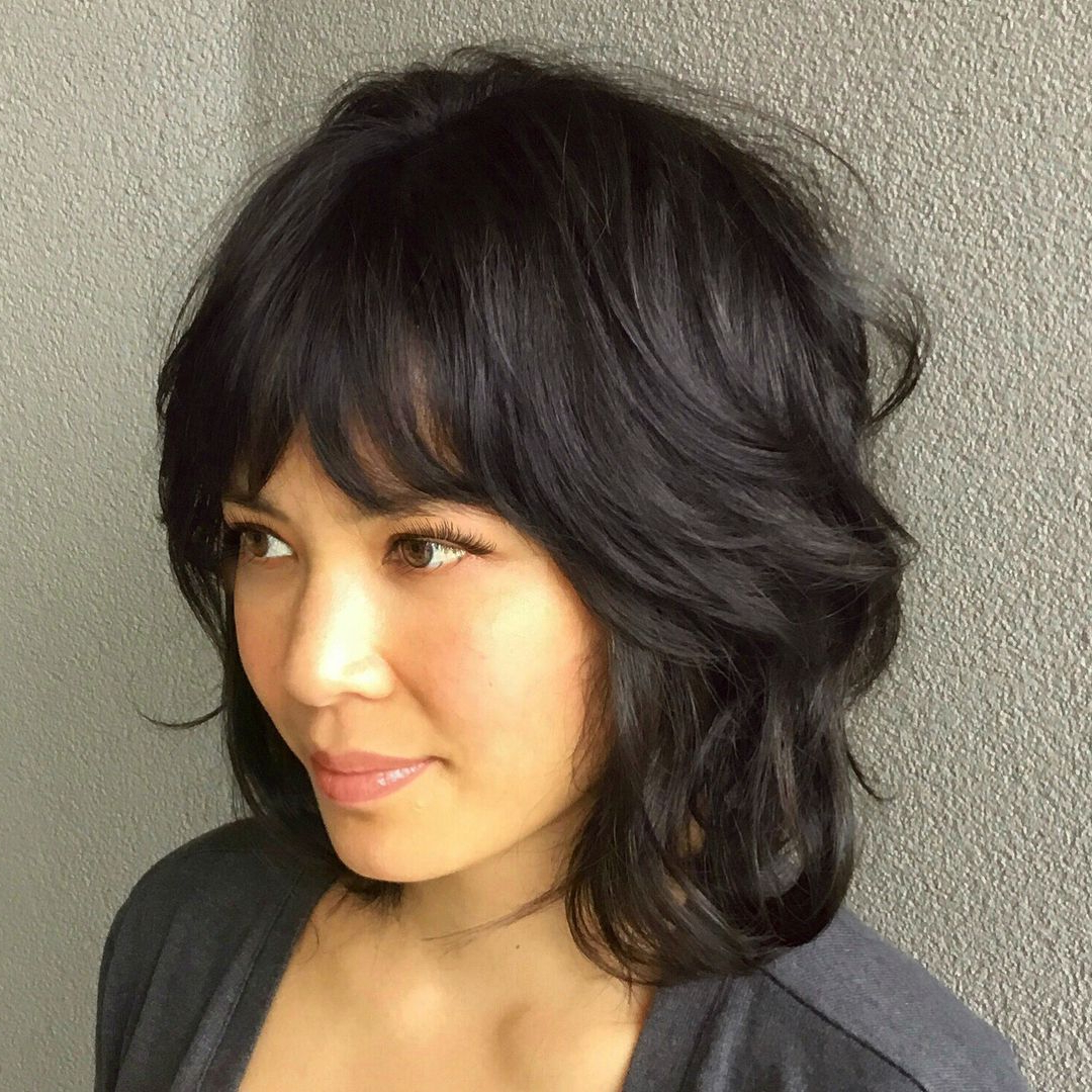 Pin On Hair In Trendy Textured Shag Haircuts With Rocky Bangs (View 2 of 20)