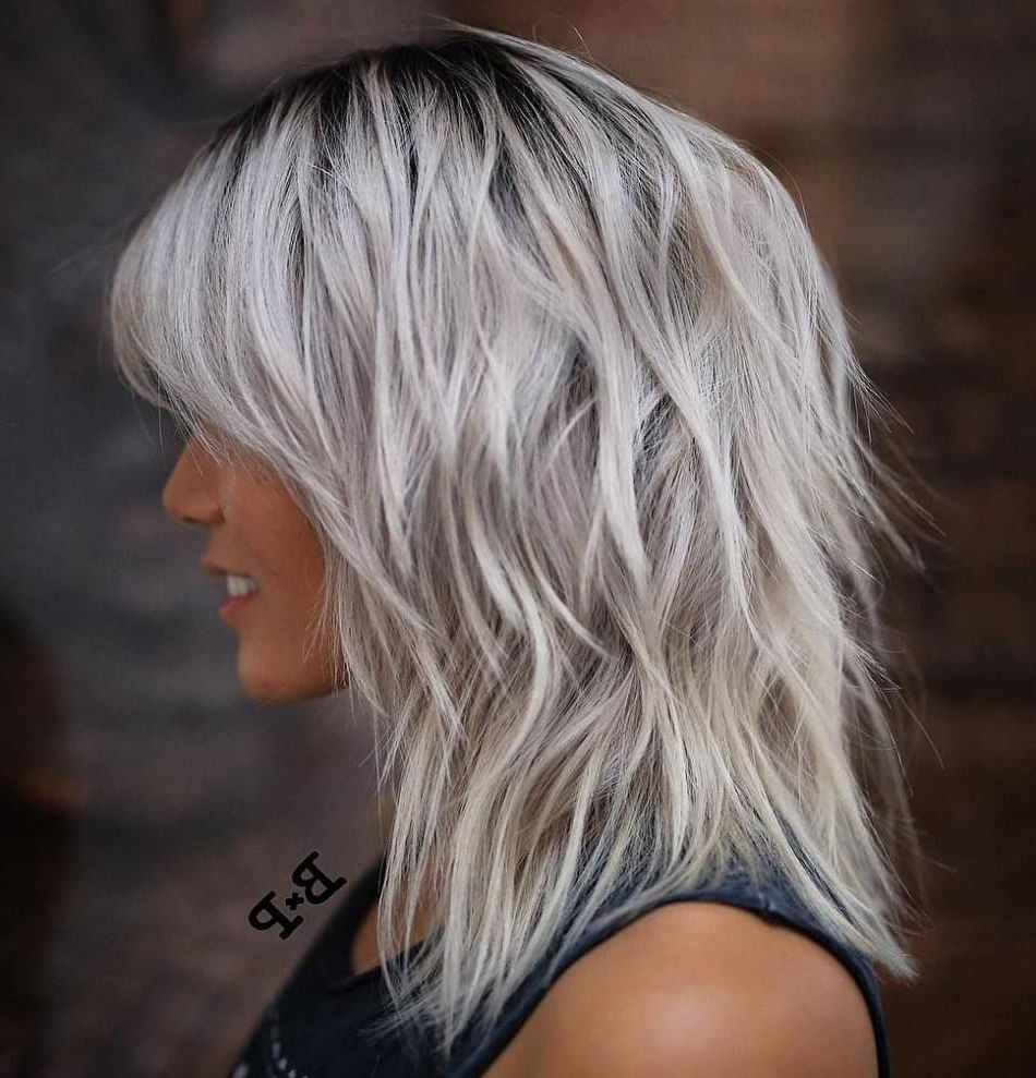 Pin On Hair Inside Silver White Shaggy Haircuts (View 4 of 20)