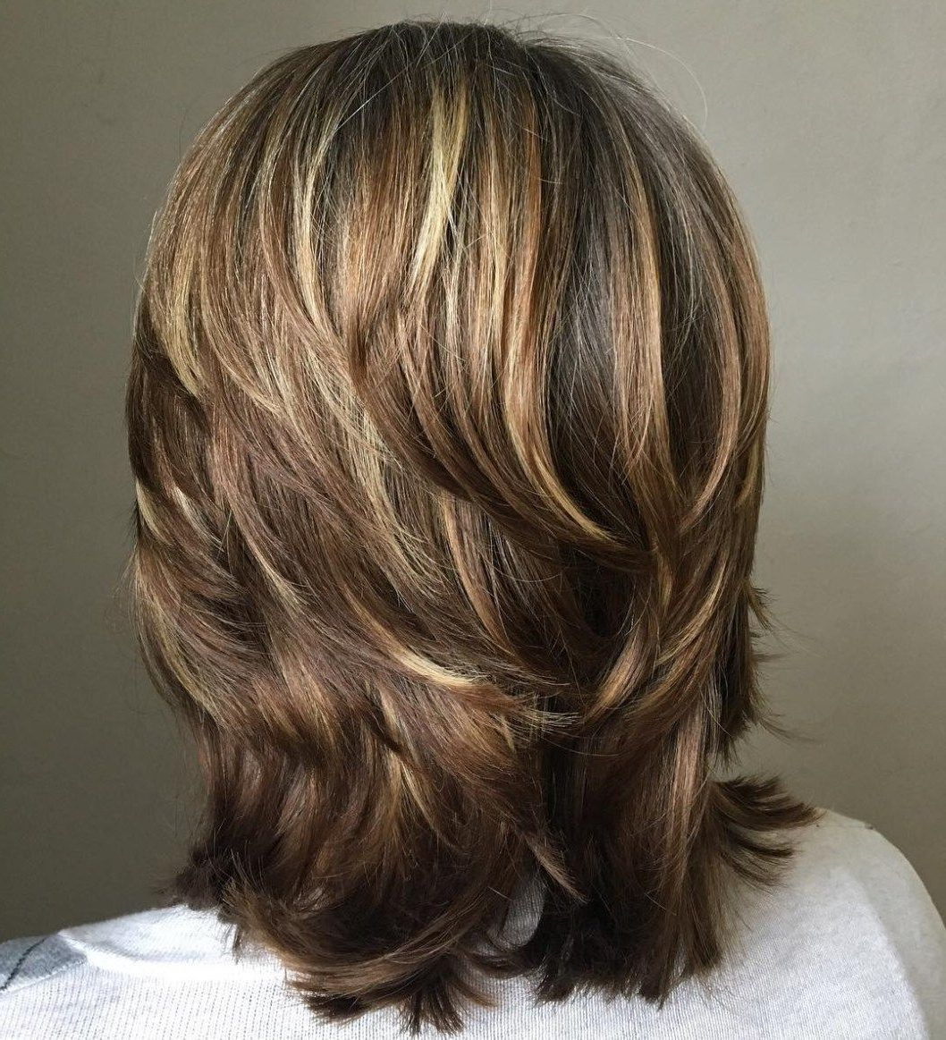 Pin On Hair Intended For Recent Mid Length Feathered Shag Haircuts For Thick Hair (View 11 of 20)