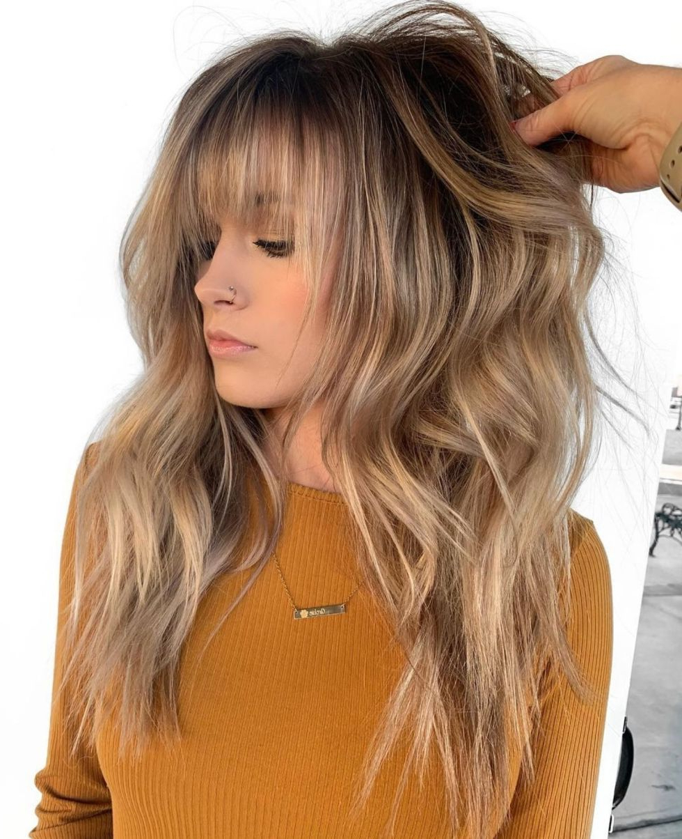 Featured Photo of Golden Bronde Razored Shag Haircuts For Long Hair